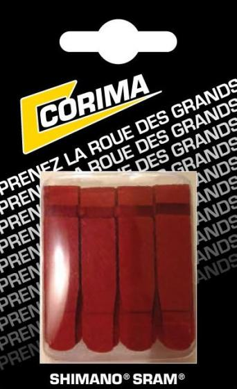 Corima blister of 4 red brake pads