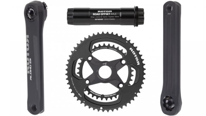 Rotor ALDHU 3D+ Crankset with Direct Mount Spidering
