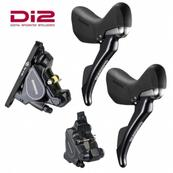 Shimano Di2 Disc Brake Set 1000/1700mm ST-R785PA6 Pair with BR-RS805 - Flat mount